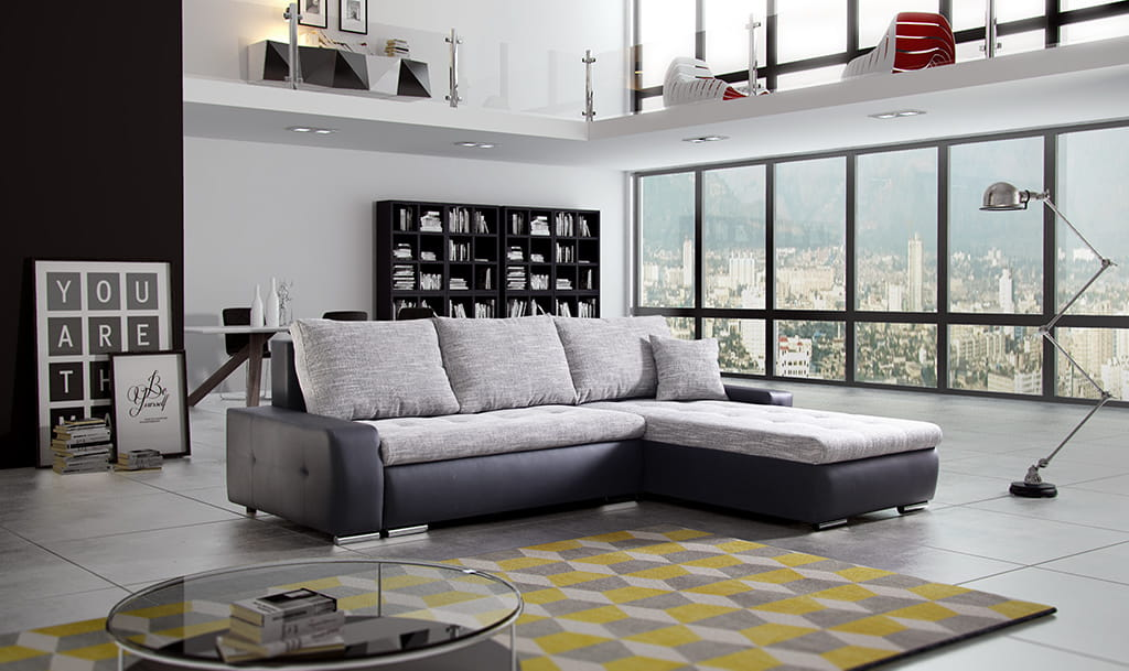 wohnlandschaft eckgarnitur sofa olivier mit schlaffunktion und bettkasten top ebay. Black Bedroom Furniture Sets. Home Design Ideas