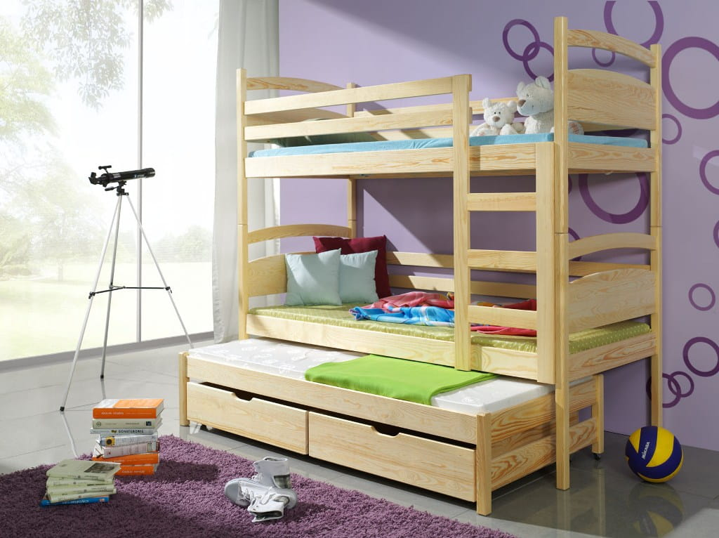 etagenbett fido ii etagenbett kinder etagenbett f r 3 personen. Black Bedroom Furniture Sets. Home Design Ideas