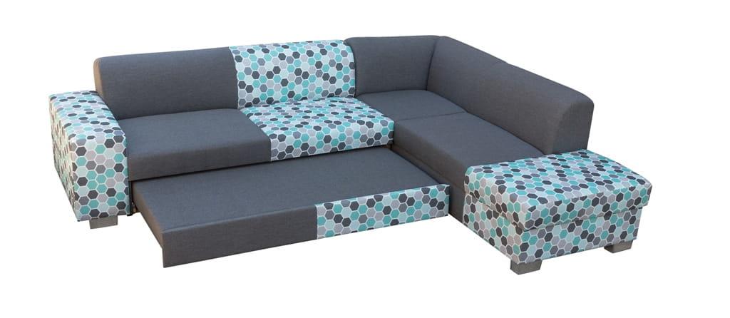 Wohnlandschaft eckgarnitur sofa diana mit schlaffunktion for Eckgarnitur mit schlaffunktion und bettkasten