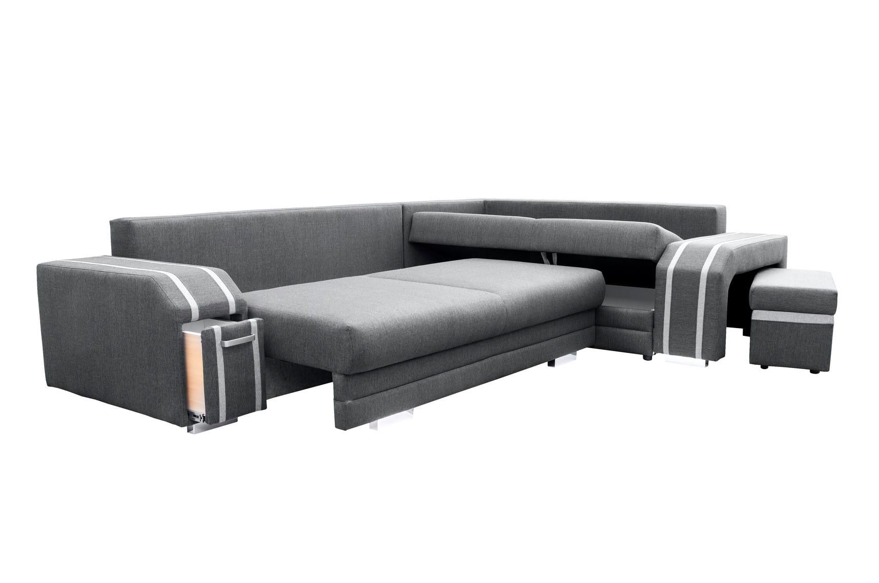wohnlandschaft eckgarnitur sofa andreas mit schlaffunktion. Black Bedroom Furniture Sets. Home Design Ideas