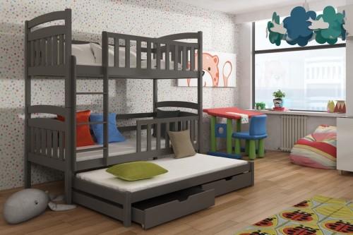 3 Etagenbett Für Drei Kinder : Etagenbett viki i kinder für 3 personen