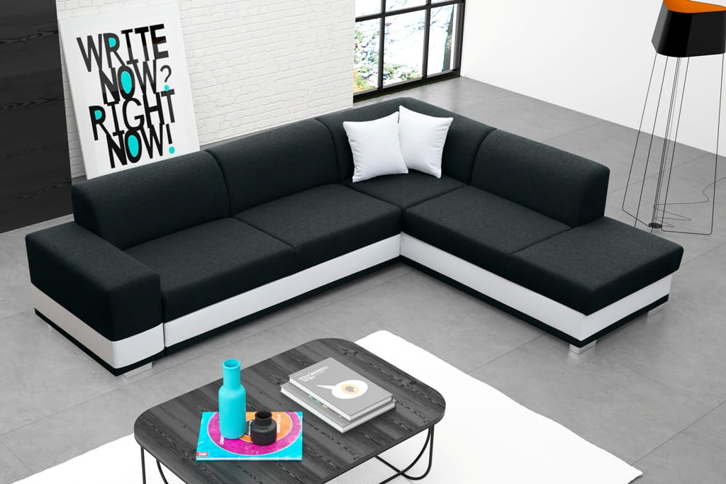 wohnlandschaft eckgarnitur sofa david mit schlaffunktion und bettkasten top ebay. Black Bedroom Furniture Sets. Home Design Ideas