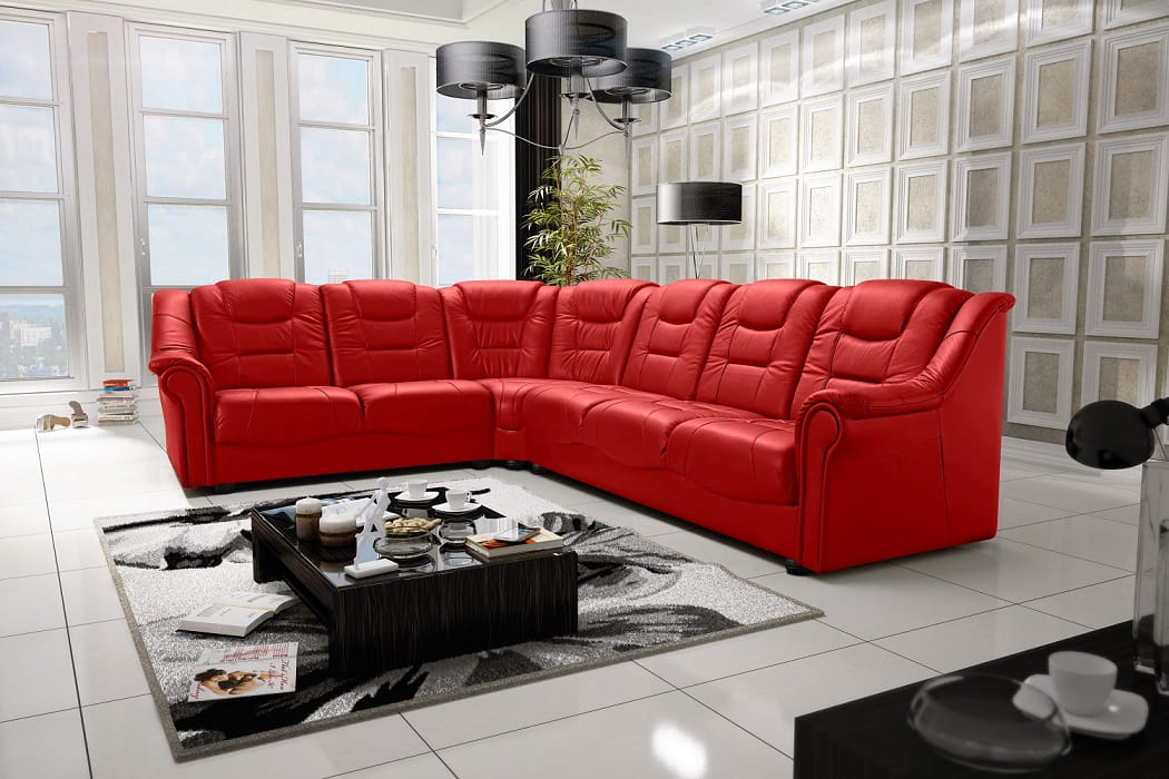 wohnlandschaft eckgarnitur sofa karo leder eckcouch polstergarnitur ecksofa top ebay. Black Bedroom Furniture Sets. Home Design Ideas