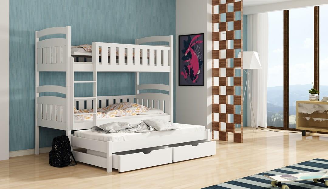 etagenbett kinderbett hochbett alexandra stockbett mit matratzen 90x200 ko ebay. Black Bedroom Furniture Sets. Home Design Ideas