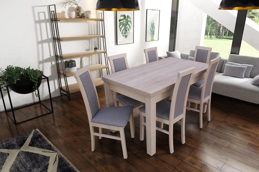 esstisch mit 6 st hlen 140x80 roma tisch st hle essgruppe esszimmer gr e w hlba ebay. Black Bedroom Furniture Sets. Home Design Ideas