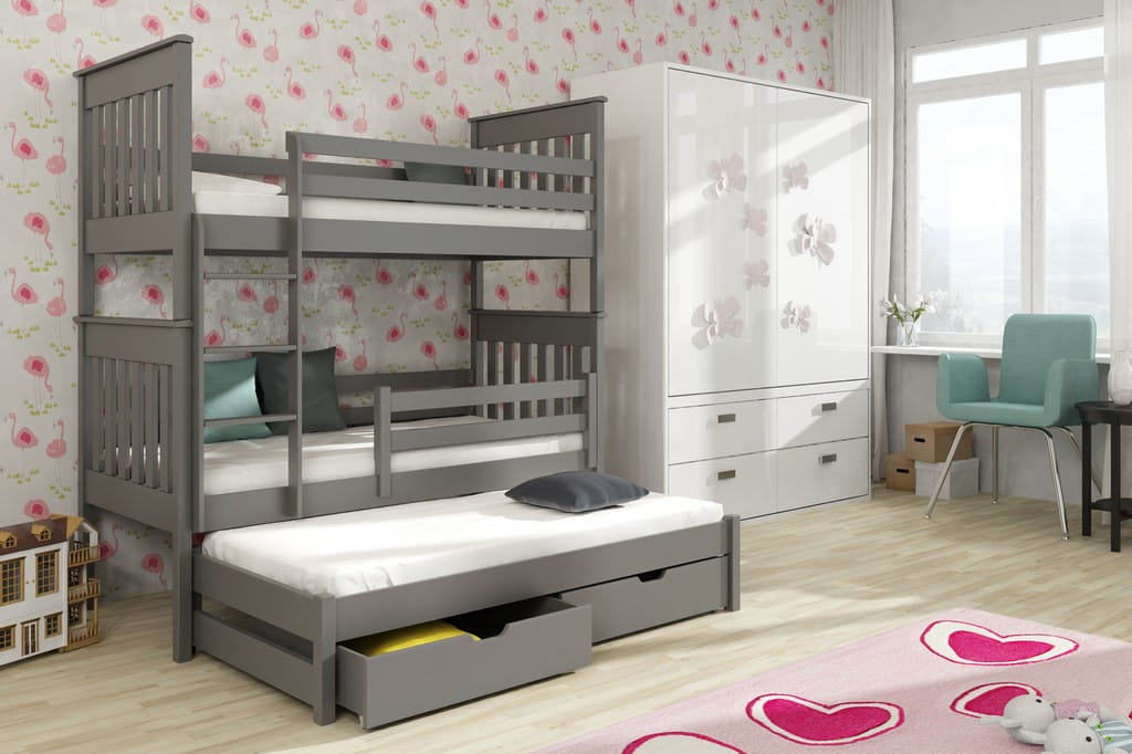 etagenbett jaris etagenbett kinder etagenbett f r 3 personen. Black Bedroom Furniture Sets. Home Design Ideas
