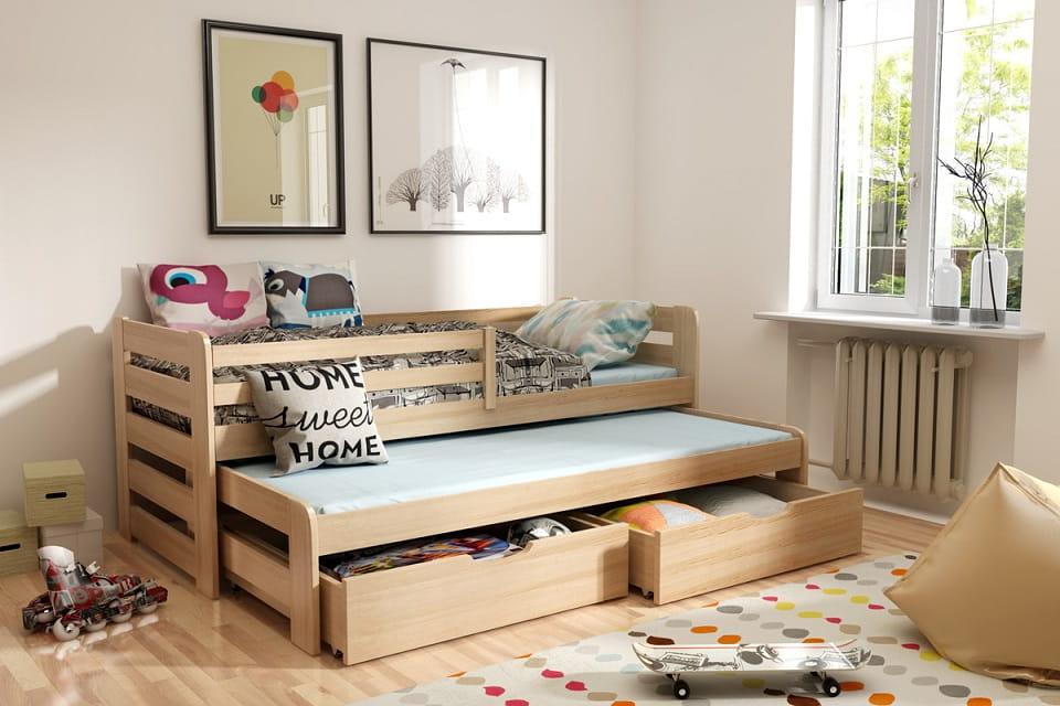 kinderbett jugendbett hochbett konrad stockbett mit matratzen 90x190 ko ebay. Black Bedroom Furniture Sets. Home Design Ideas
