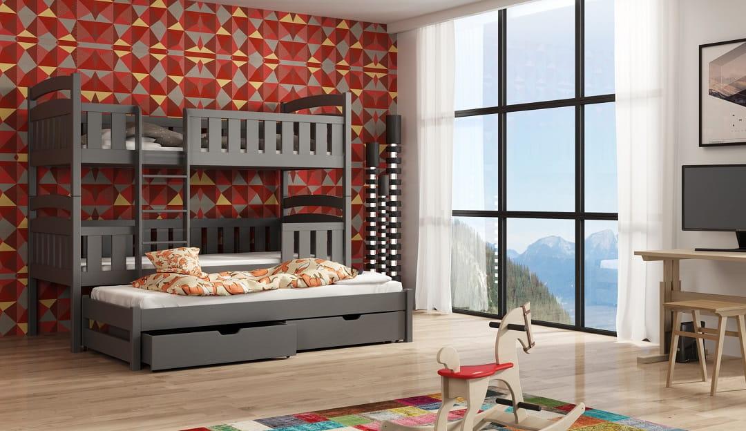 etagenbett lilly etagenbett kinder etagenbett f r 3. Black Bedroom Furniture Sets. Home Design Ideas