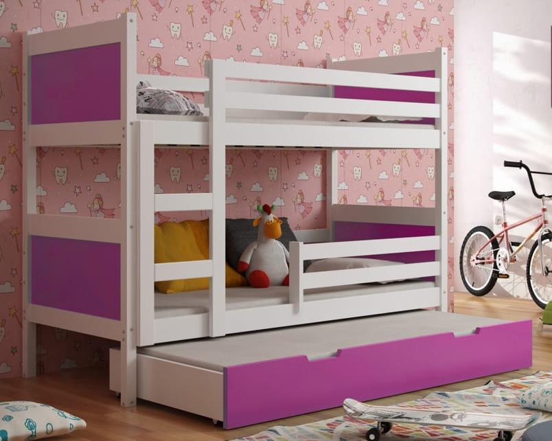 etagenbett luca f r 3 personen deine moebel 24 einfach. Black Bedroom Furniture Sets. Home Design Ideas