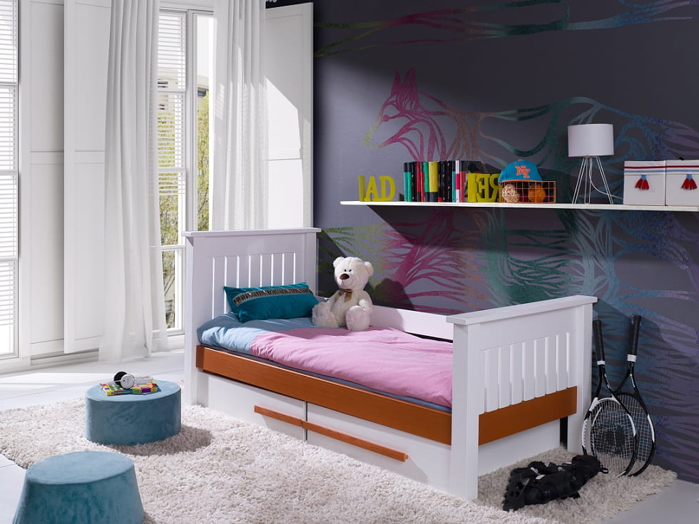 kinderbett jugenbett celine deine moebel 24 einfach einrichten. Black Bedroom Furniture Sets. Home Design Ideas