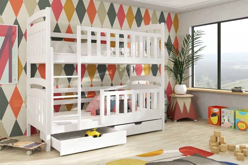 etagenbett kinderbett hochbett peter stockbett mit matratzen 90x200 ko offenbach. Black Bedroom Furniture Sets. Home Design Ideas