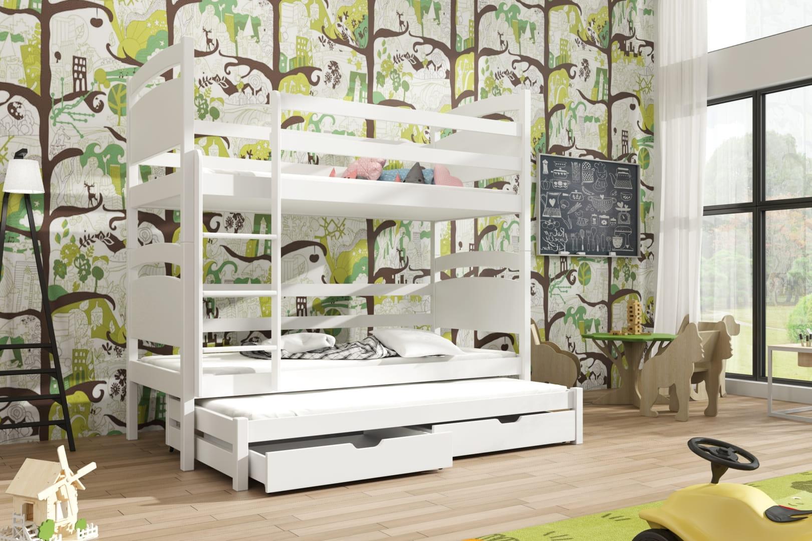 etagenbett fido ii etagenbett kinder etagenbett f r 3 personen. Black Bedroom Furniture Sets. Home Design Ideas