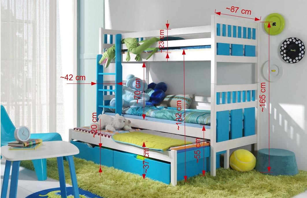 etagenbett kinderbett hochbett maxi stockbett mit matratzen 90x200 ko ebay. Black Bedroom Furniture Sets. Home Design Ideas