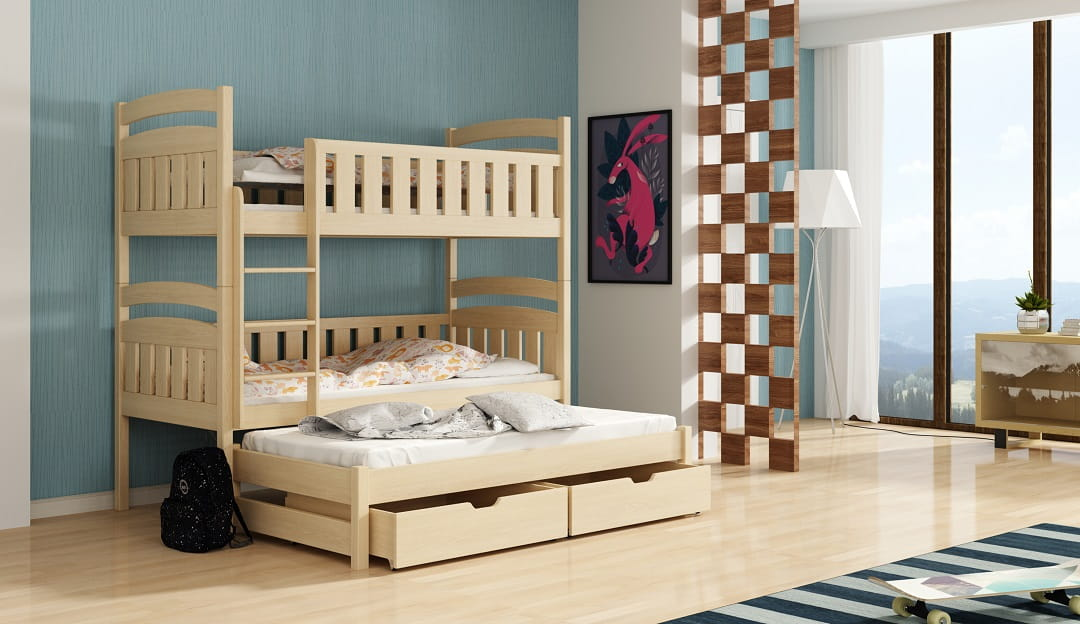 etagenbett kinderbett hochbett alexandra stockbett mit matratzen 90x200 ko ebay. Black Bedroom Furniture Sets. Home Design Ideas