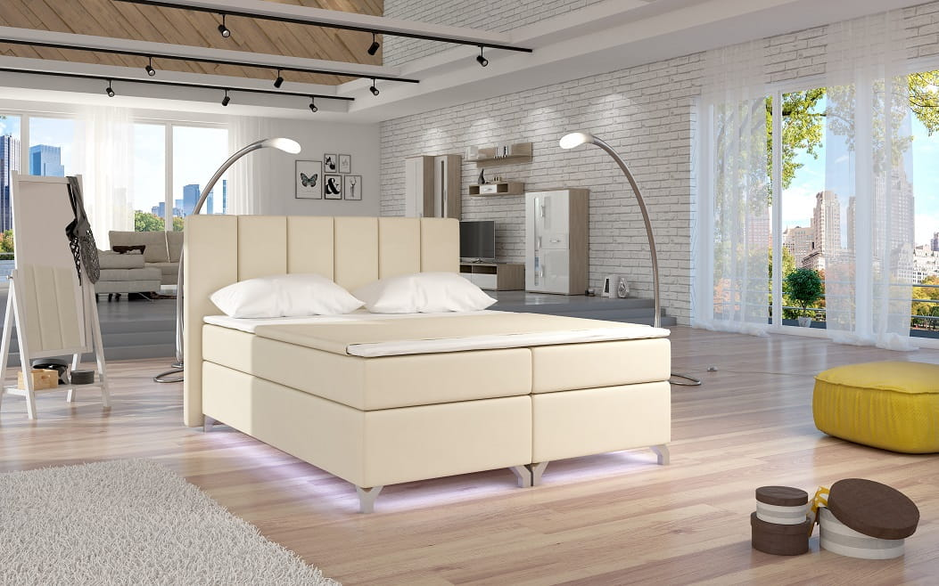 design boxspringbett benny doppelbett bett hotelbett ehebett 180x200 cm top ebay. Black Bedroom Furniture Sets. Home Design Ideas