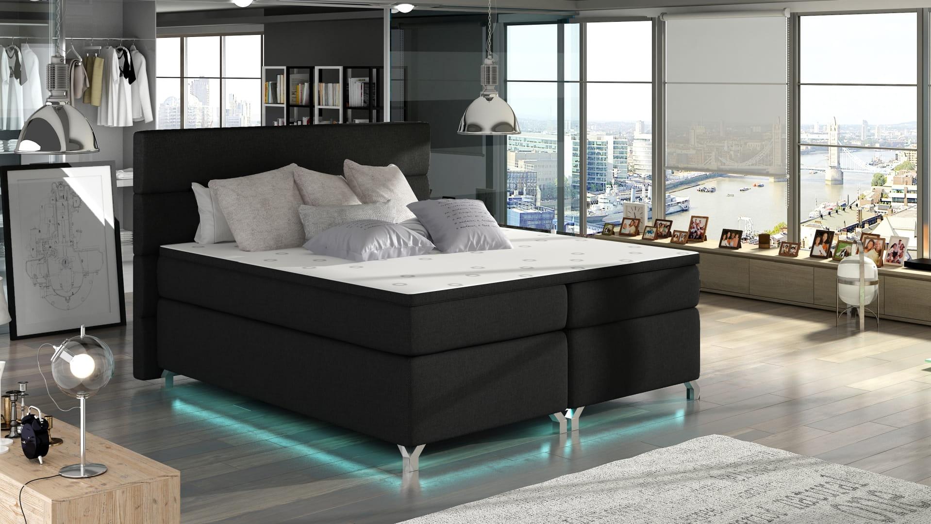 boxspringbett alyssa deine moebel 24 einfach einrichten. Black Bedroom Furniture Sets. Home Design Ideas