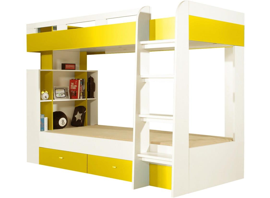 etagenbett molly i wei gelb deine moebel 24 einfach einrichten. Black Bedroom Furniture Sets. Home Design Ideas