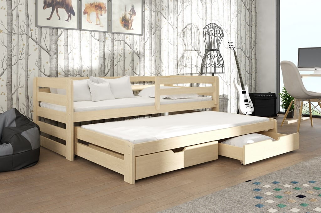 kinderbett jugendbett hochbett seni stockbett mit matratzen 80x180 ko lackiert ebay. Black Bedroom Furniture Sets. Home Design Ideas
