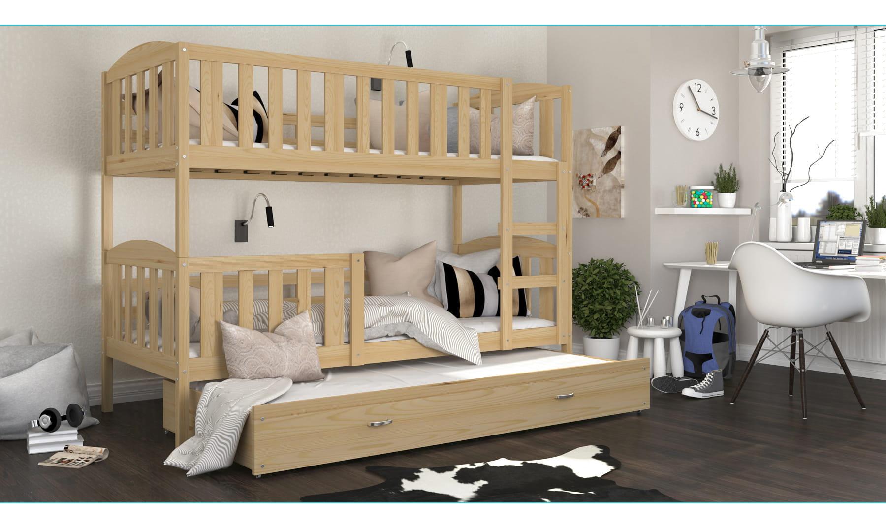 etagenbett kevin f r 3 personen deine moebel 24 einfach einrichten. Black Bedroom Furniture Sets. Home Design Ideas