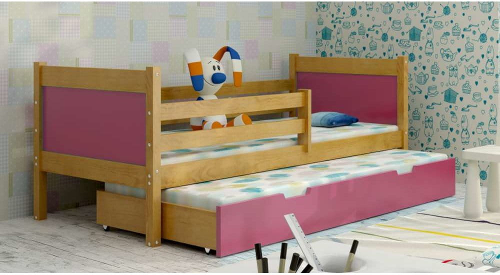 kinderbett jugendbett hochbett luca 2 stockbett mit matratzen 80x185 kiefer 5903111219109 ebay. Black Bedroom Furniture Sets. Home Design Ideas