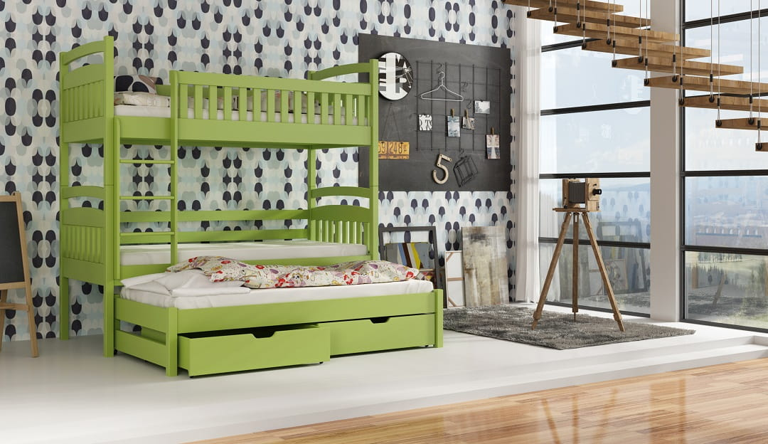 etagenbett kinderbett hochbett ada i stockbett mit matratzen 80x180 ko lackiert ebay. Black Bedroom Furniture Sets. Home Design Ideas