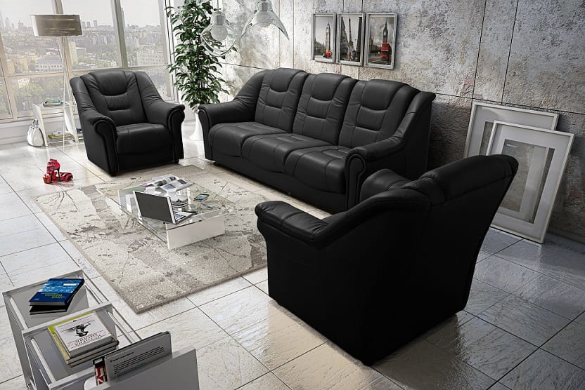 sofa sessel 3 1 1 set karo deine moebel 24 einfach einrichten. Black Bedroom Furniture Sets. Home Design Ideas