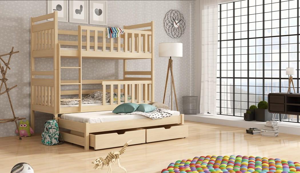 etagenbett kaja etagenbett kinder etagenbett f r 3. Black Bedroom Furniture Sets. Home Design Ideas