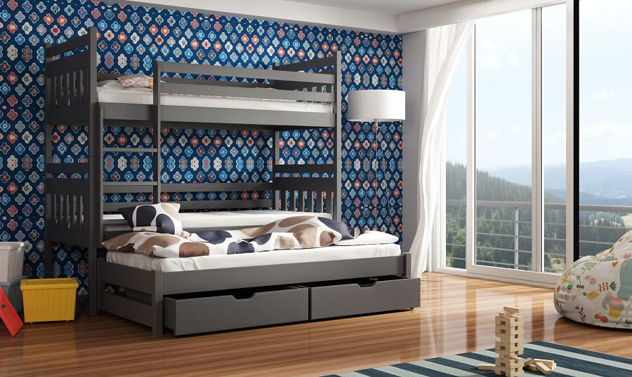 etagenbett kinderbett hochbett sarah i stockbett mit matratzen 90x200 ko lacke 5903111219208 ebay. Black Bedroom Furniture Sets. Home Design Ideas
