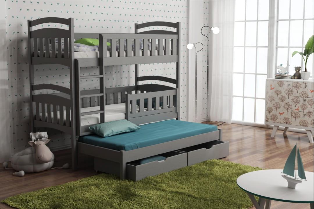 etagenbett lina i f r 3 personen deine moebel 24 einfach. Black Bedroom Furniture Sets. Home Design Ideas