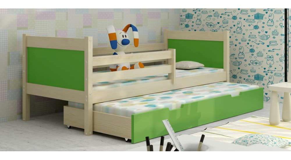 kinderbett jugendbett hochbett luca 2 stockbett mit matratzen 80x185 kiefer 5903111219109 ebay. Black Bedroom Furniture Sets. Home Design Ideas