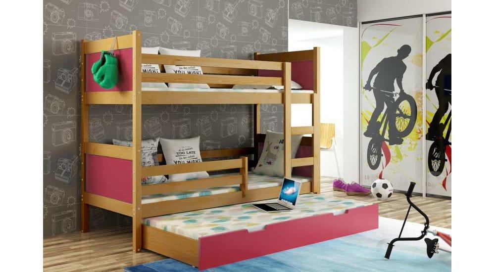 etagenbett luca f r 3 personen deine moebel 24 einfach einrichten. Black Bedroom Furniture Sets. Home Design Ideas