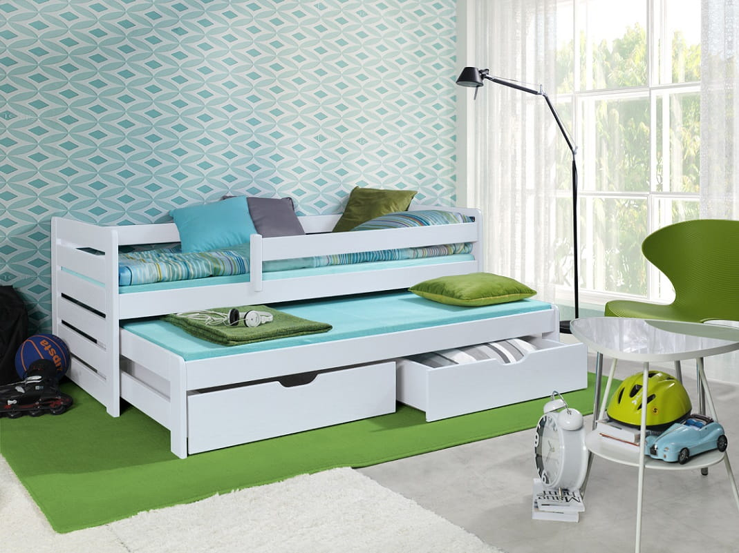 etagenbett kinderbett hochbett ted stockbett mit matratzen 90x200 ko ebay. Black Bedroom Furniture Sets. Home Design Ideas
