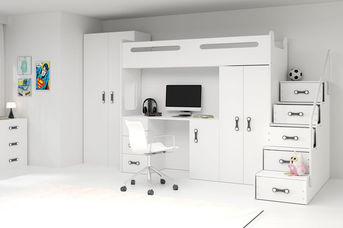 Etagenbett Hochbett Nina Mit Schreibtisch Und Schrank Deine Moebel